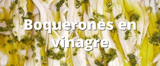 Receta de Boquerones en vinagre